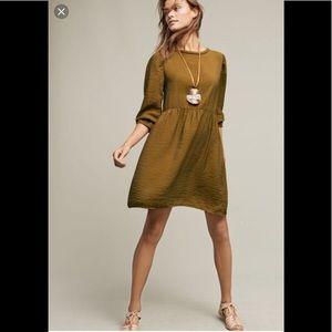 Anthropologie Parkington olive dress